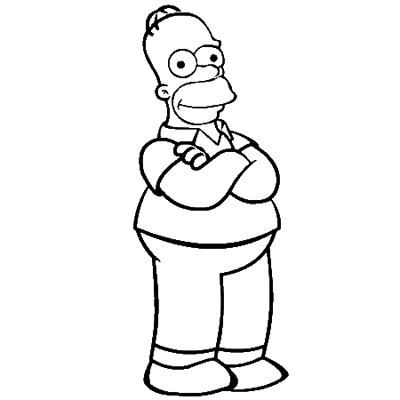 Dessin de homer simpson - Comment dessiner les simpsons ...