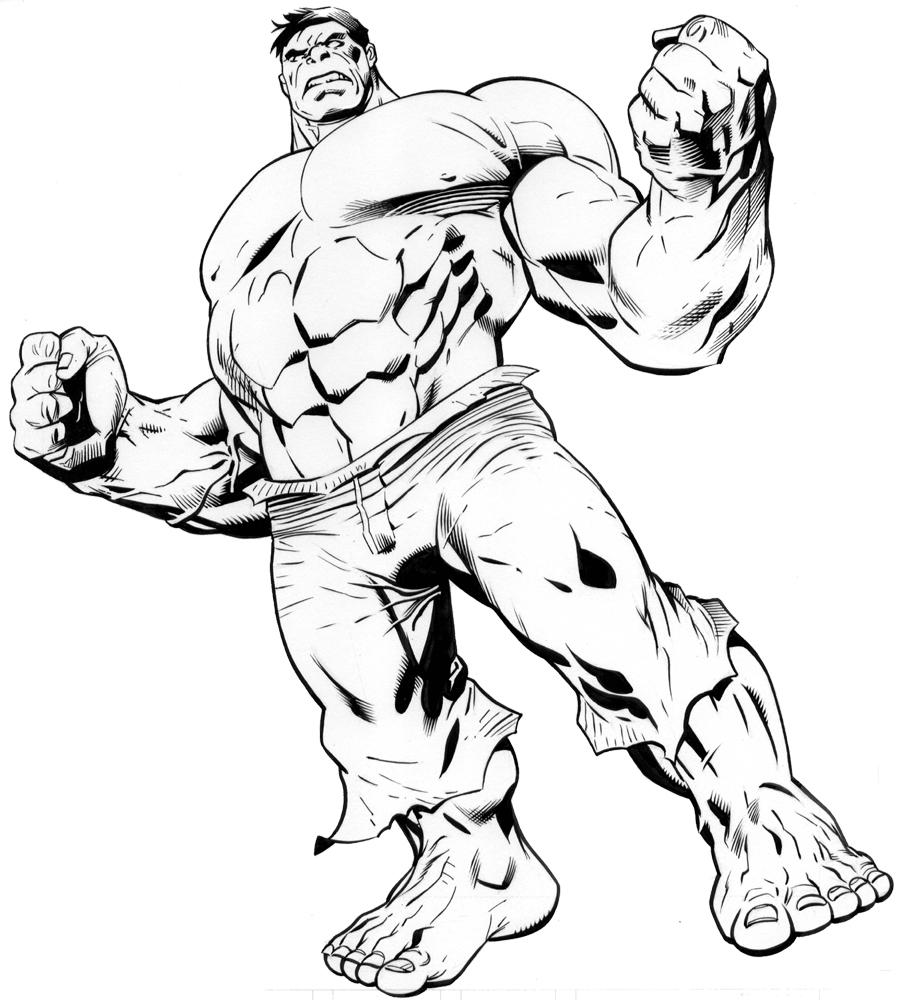 dessin de hulk