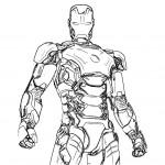 dessin de iron man 3 a imprimer