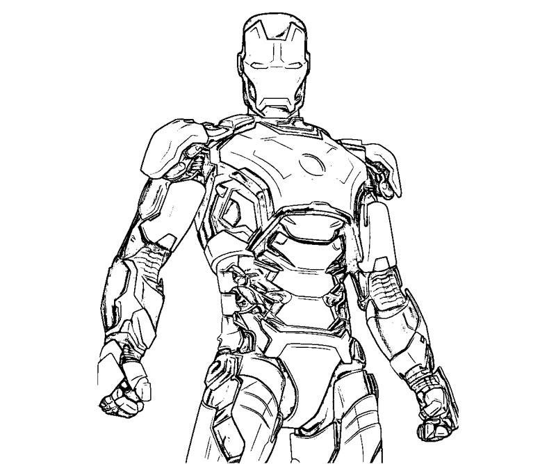 Dessin De Iron Man 3 A Imprimer 3
