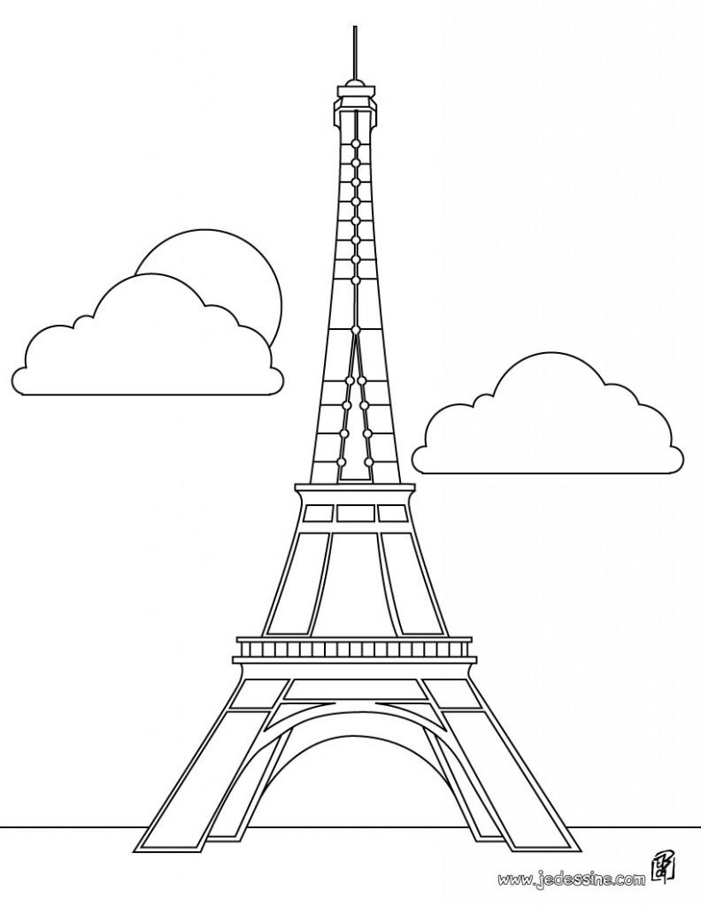 dessin de la tour eiffel