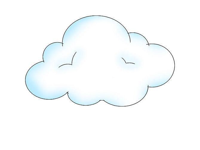 Dessin de nuage 5 - Dessin de nuage a imprimer ...