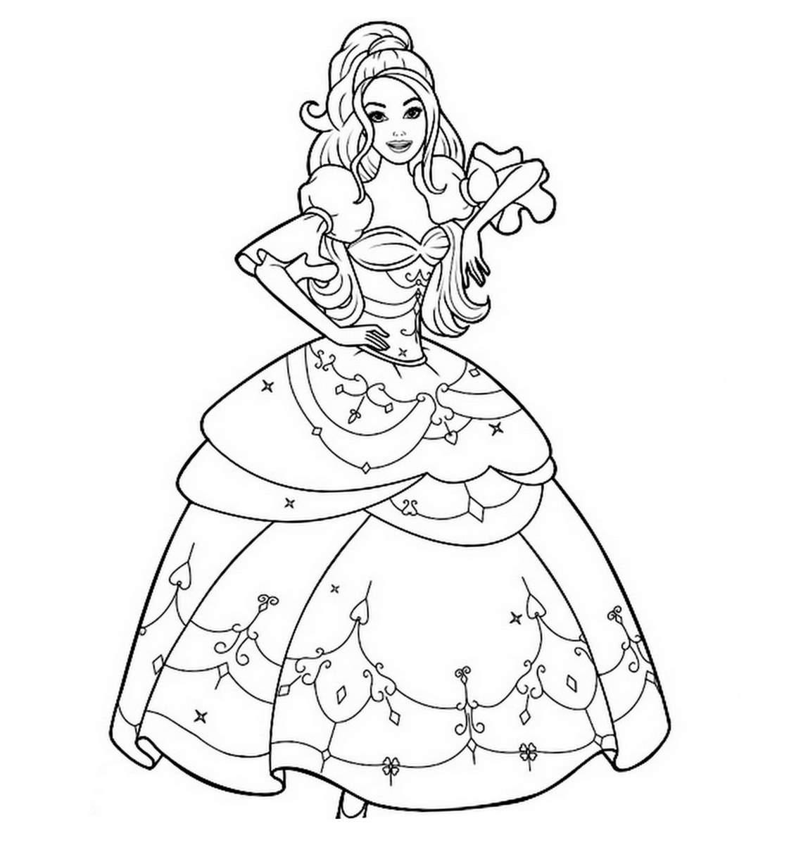 Dessin de princesse - Coloriage des princesses ...