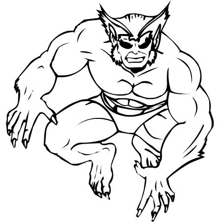 dessin de x-men a colorier