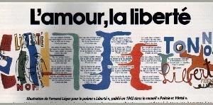 illustration de fernand leger pour le poeme liberte