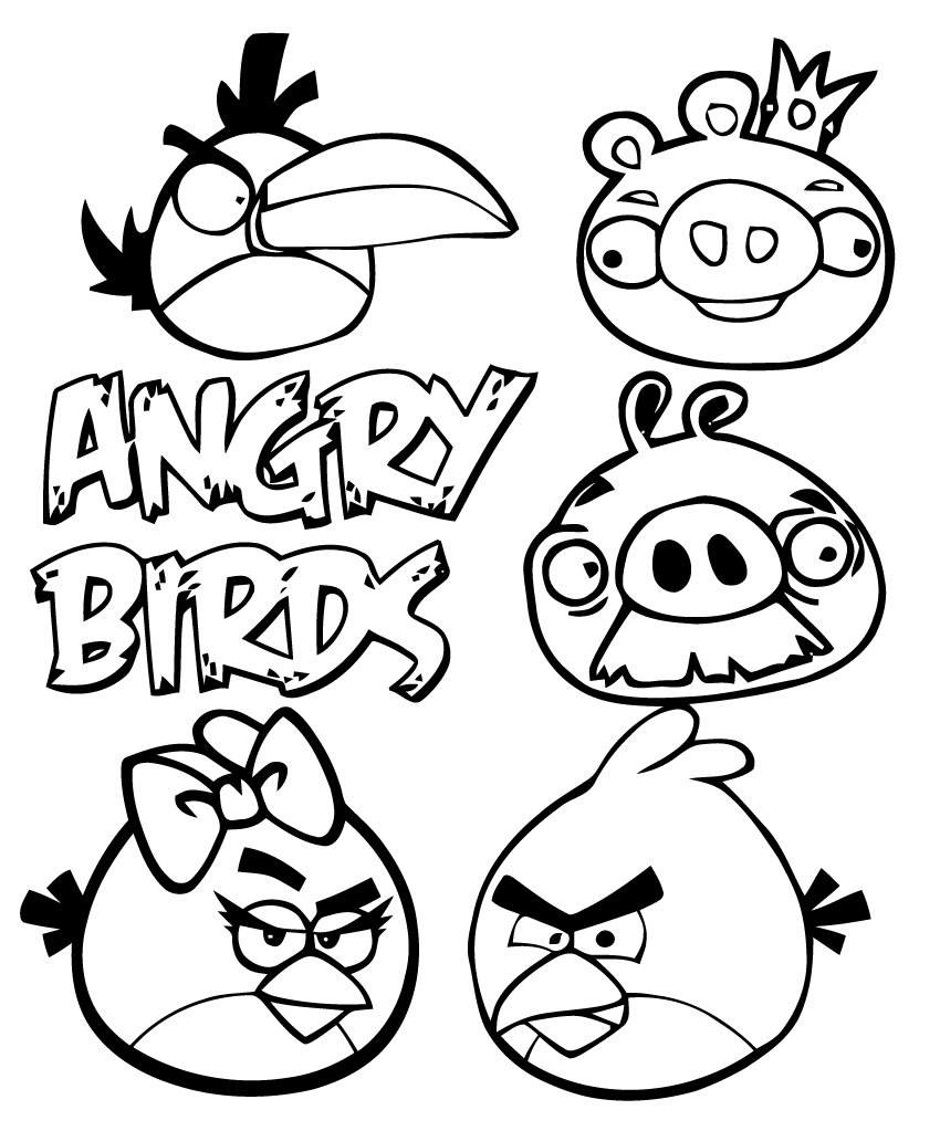 Dessin de angry birds 8 - Angry bird dessin ...