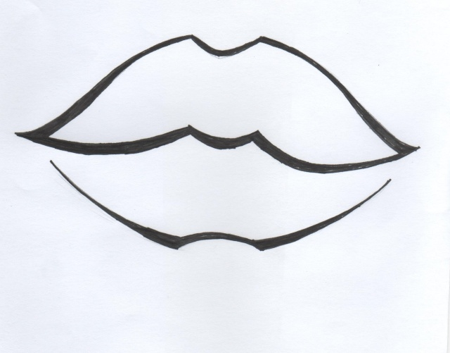 Dessin Bouche Simple