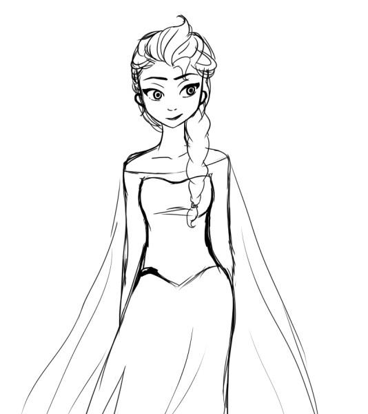 dessin de elsa 3 - Dessin Elsa