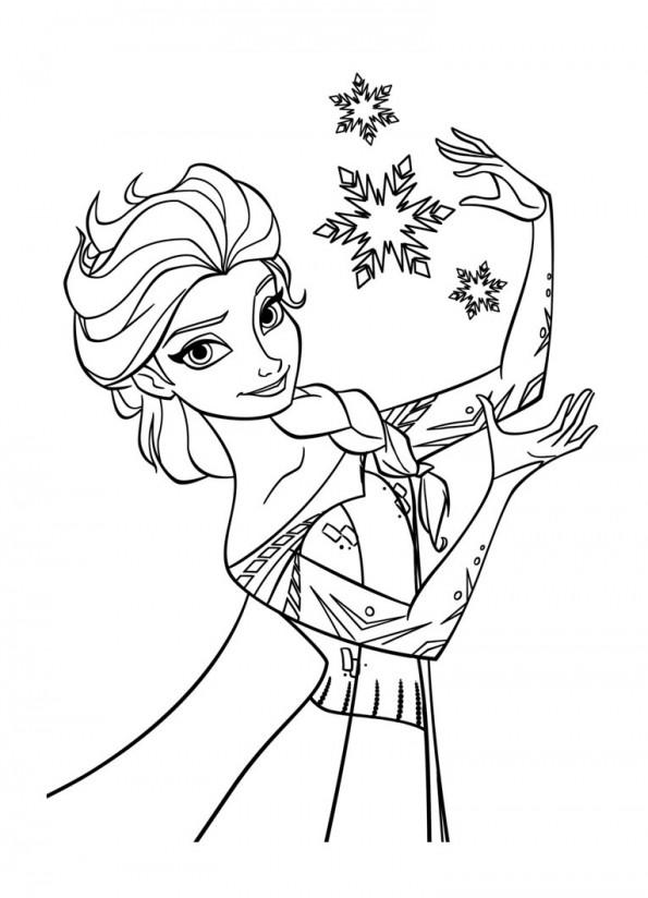 dessin de elsa 4 - Dessin Elsa