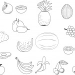 dessin de fruits