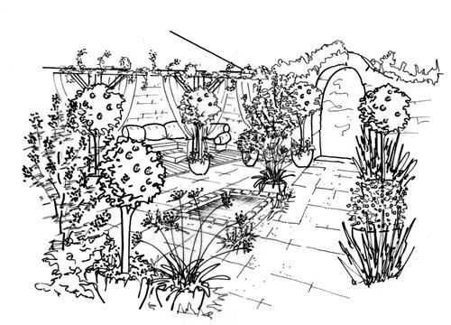 dessin de jardin 4 - Jardin Dessin