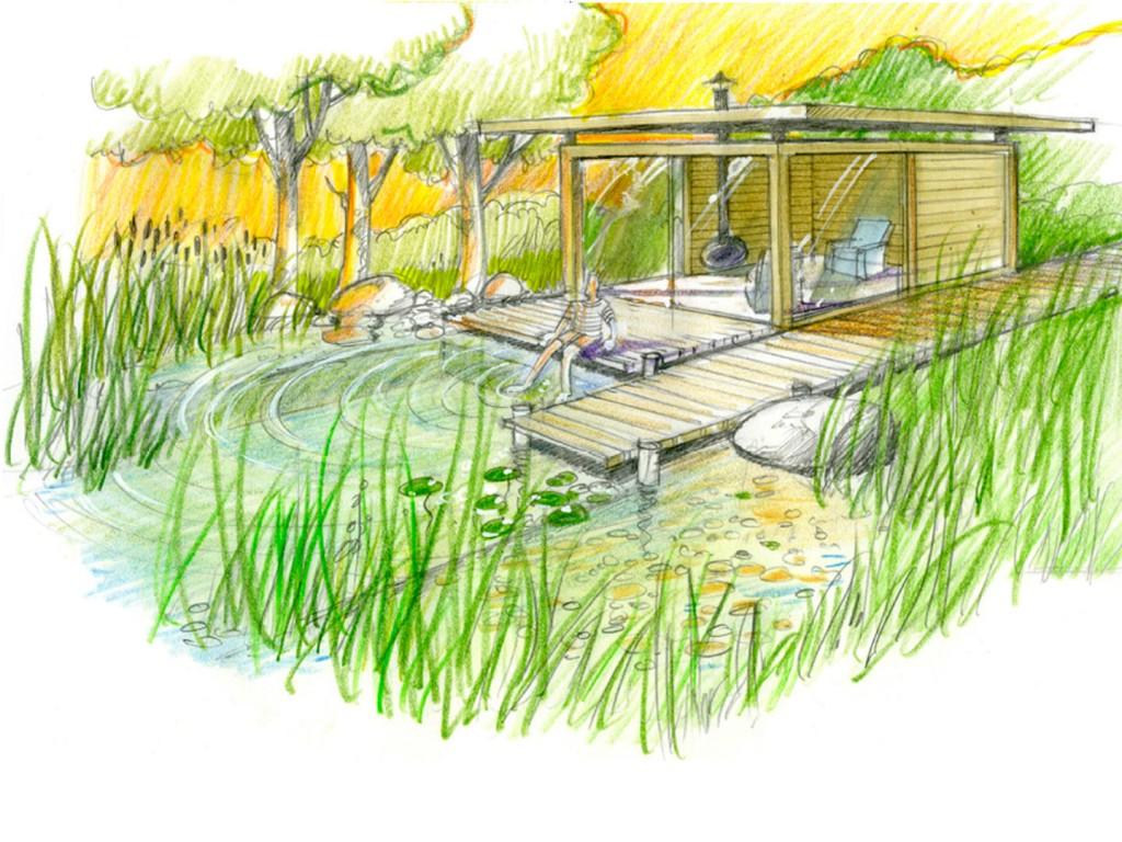 Dessin de jardin 7 for Jardin dessin