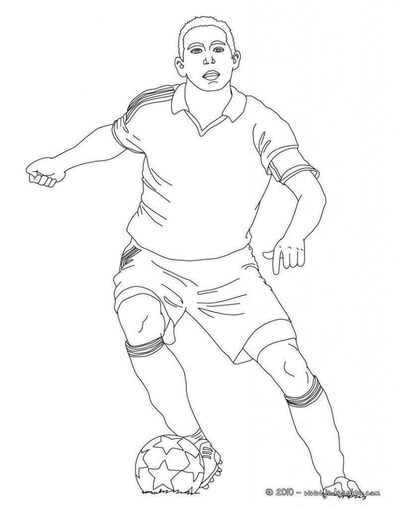 dessin de joueur de foot 3