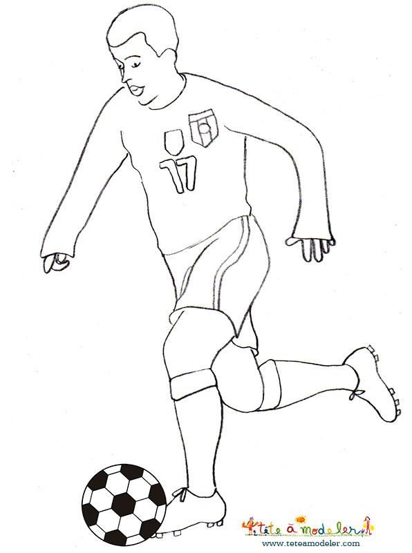 Dessin de joueur de foot 5 - Image de foot a imprimer ...
