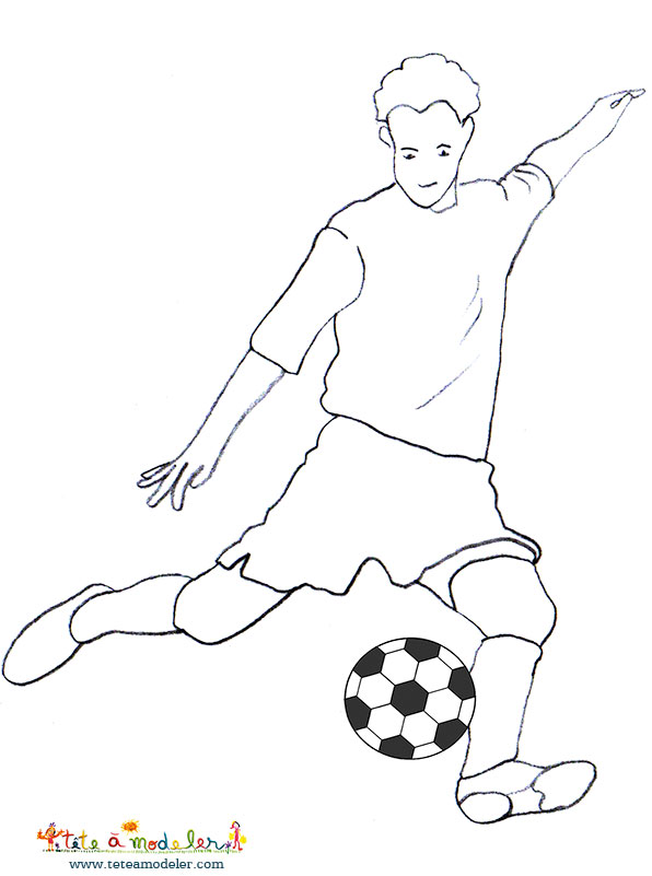 Dessin de joueur de foot 6 - Dessin de joueur de foot a imprimer ...