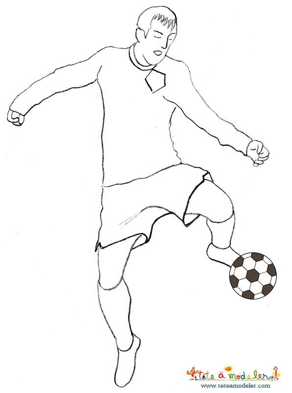 Dessin de joueur de foot 8 - Image de foot a imprimer ...