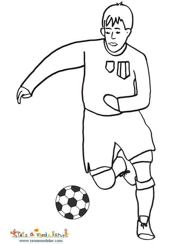 Dessin de joueur de foot 9 - Image de joueur de foot a imprimer ...