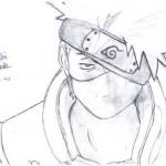 dessin de kakashi