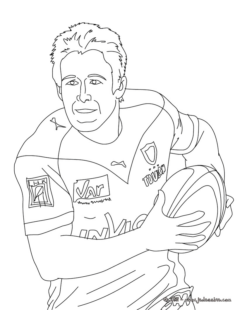 Dessin de rugby 8 - Coloriage de rugby ...