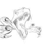 dessin de t-rex