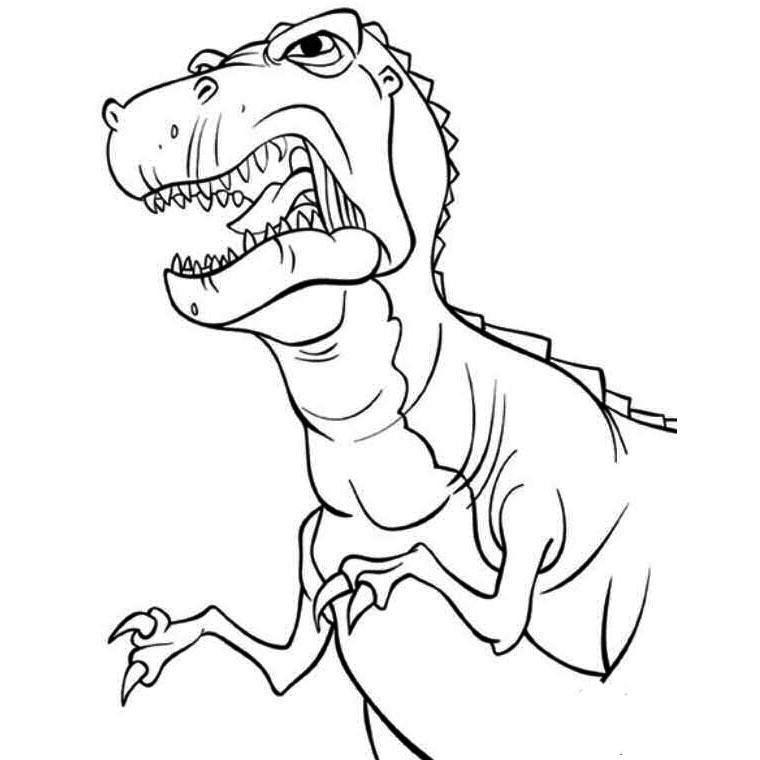 Dessin de t rex a imprimer 3 - Tyrannosaure a colorier ...