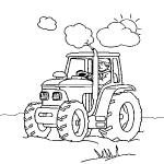 dessin de tracteur