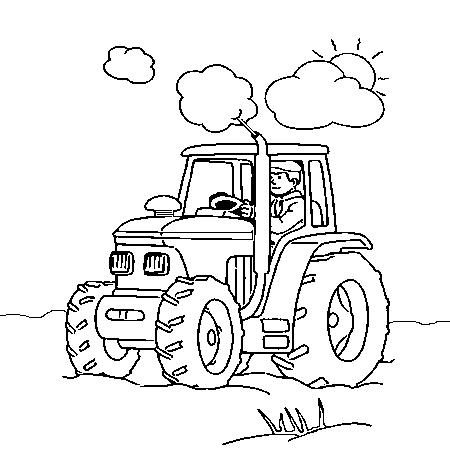Dessin de tracteur 2 - Coloriage tracteur avec remorque ...