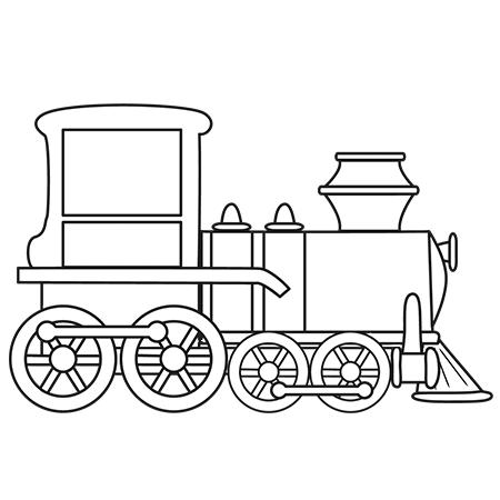 Dessin de train 4 - Train coloriage ...