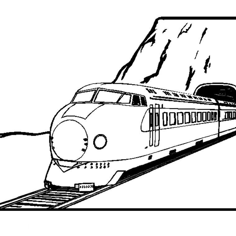 Dessin de train 5 - Coloriage train a vapeur a imprimer ...