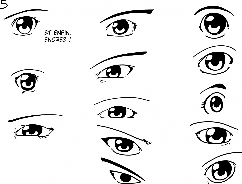 Dessin de yeux de manga 6 - Oeil a colorier ...