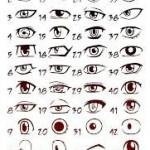dessin de yeux de manga