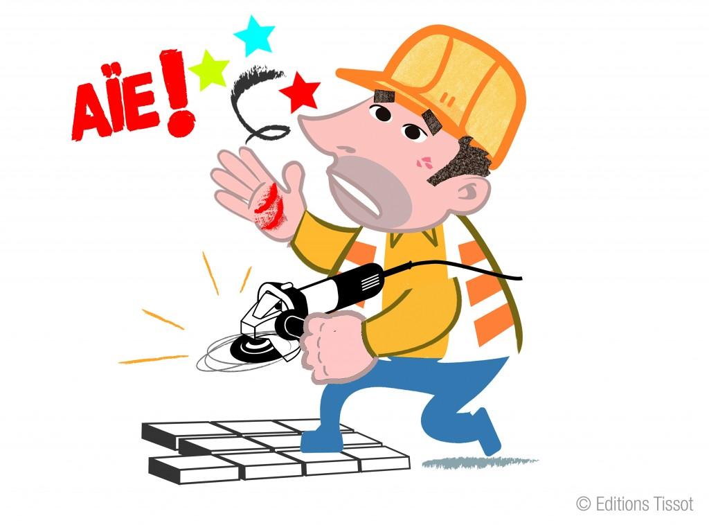 Illustration accident de travail 7 - Dessin travail ...