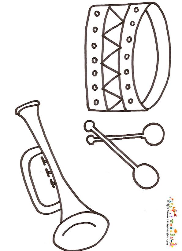 Dessin d instrument de musique 2 - Image instrument de musique a colorier ...