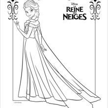 Dessin De Elsa La Reine Des Neiges 7