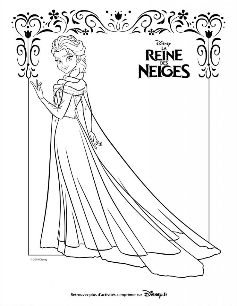 dessin de elsa la reine des neiges