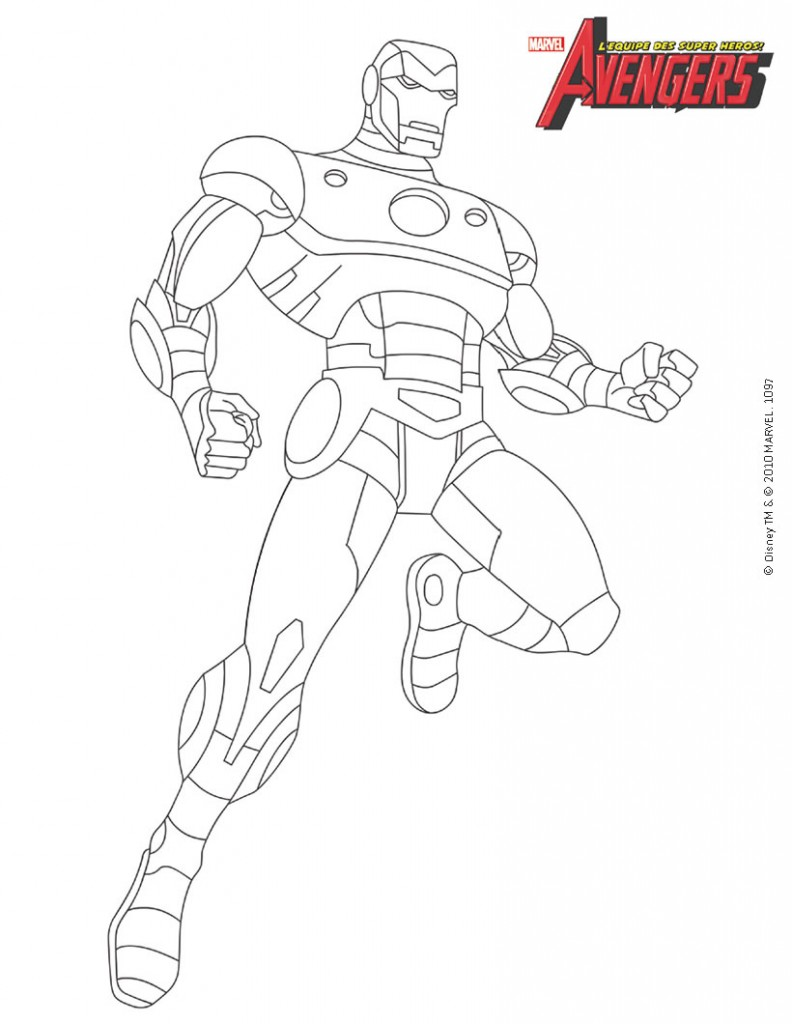 dessin de iron man