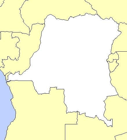dessin de la carte politique de la rdc