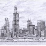 dessin de ville