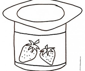 dessin de yaourt