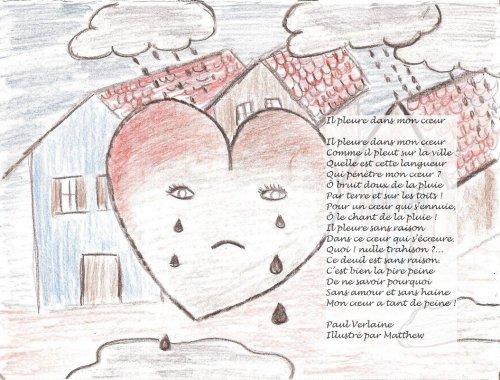 illustration de il pleure dans mon coeur