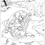 Illustration de jean de la fontaine le lion et le rat - Dessin le lion et le rat ...