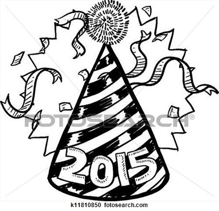 illustration de nouvel an